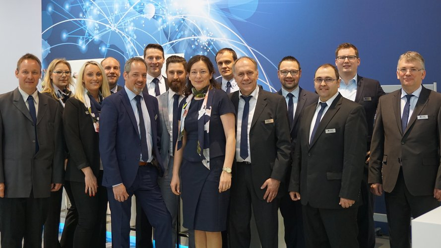 Exhibition and sales team