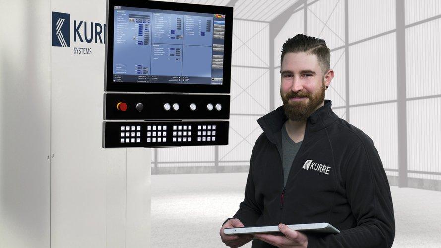 Markus Pott of KURRE systems, at a digital line control