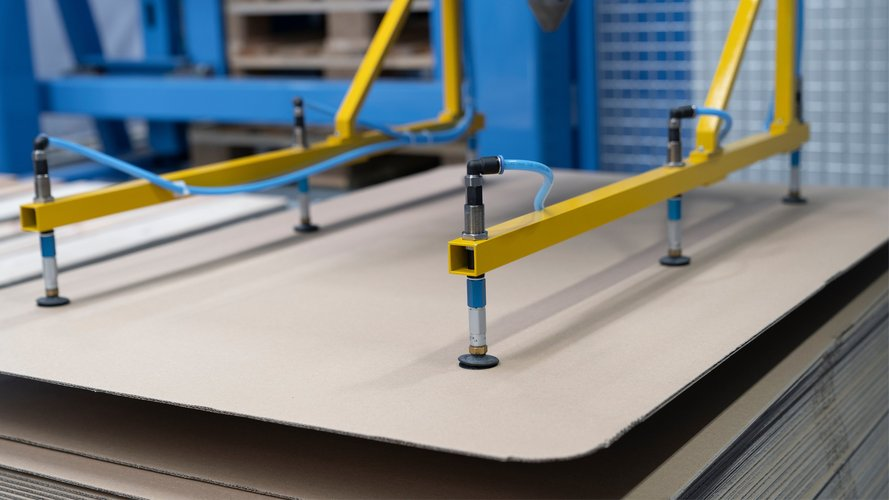 Part of an automatic spool winding line, for order picking of cable products.