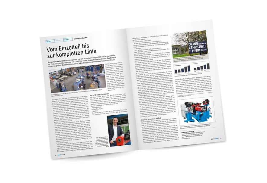 Doppelseite aus dem Draht-Magazin
