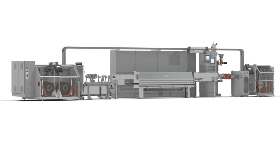 3D visualisation of a Kurre Siebe extrusion line